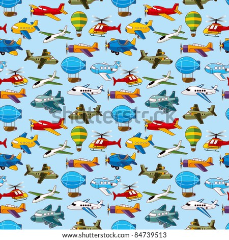 seamless airplane pattern