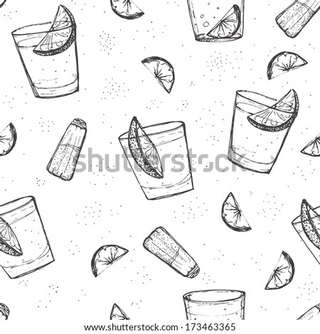seamless alcohol drinks vector