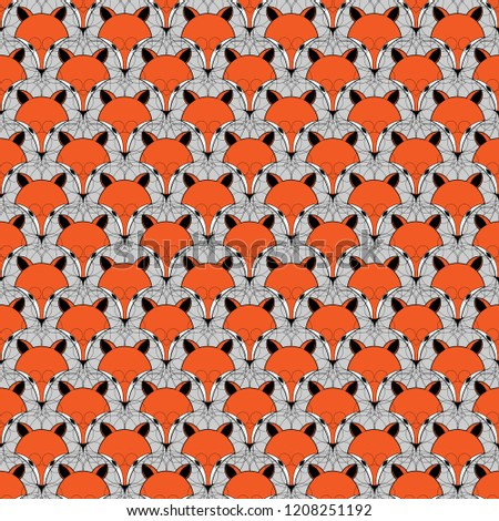 seamless animal pattern cute