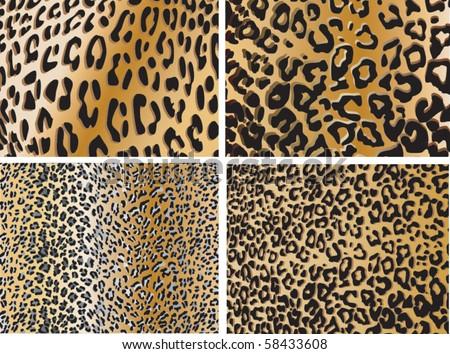 Seamless animal pattern skin fur vector pack