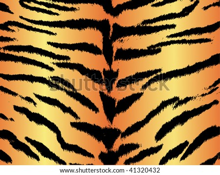 Seamless animal pattern skin fur vector tiger - XXL version in jpeg available in my portfolio