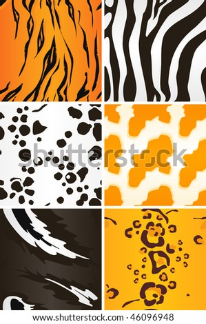 Seamless animal patterns, vector