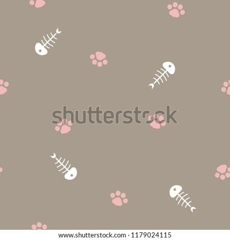 seamless animal pet cat foot