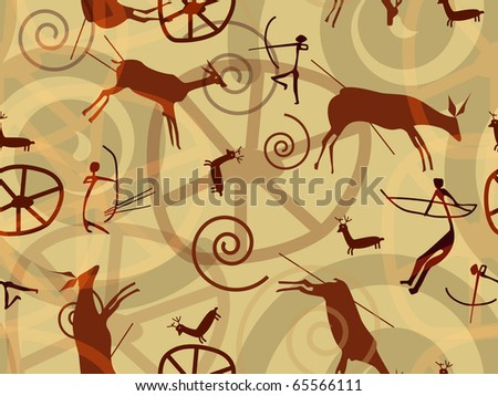 Seamless animals vector texture