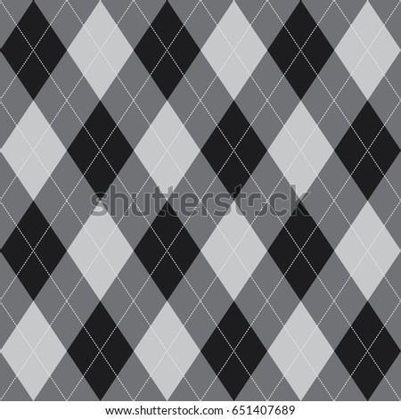 Seamless Argyle Pattern Grey. Vector.