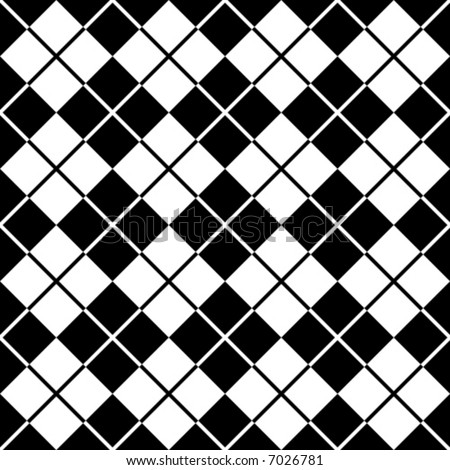 Seamless argyle pattern in black and white.