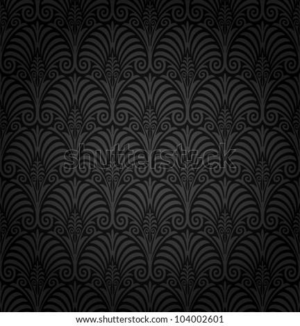 Seamless Art Nouveau pattern