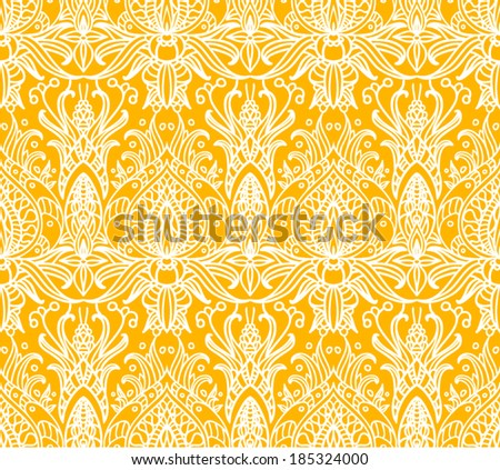 Seamless Asian Flower Ornament. Good For Print, Fabric ...