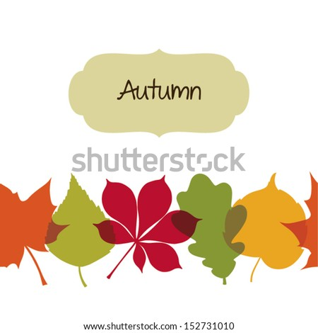 seamless autumn background with