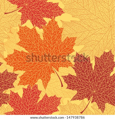 vector seamless pattern of maple autumn leaves download free