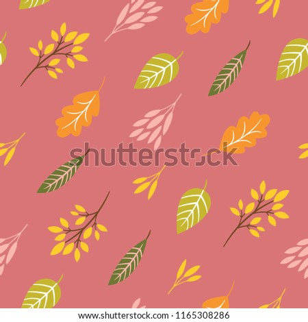 seamless autumn pattern , autumn leaves