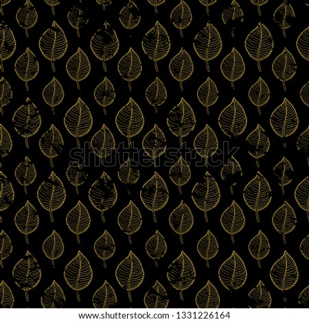 Seamless Autumn pattern on a dark background abstract brown gold leaf,leaf fall,defoliation,autumn leaves ,falling leaves