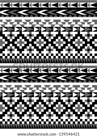 Seamless aztec pattern in black and white 1Black And White Aztec Pattern Background