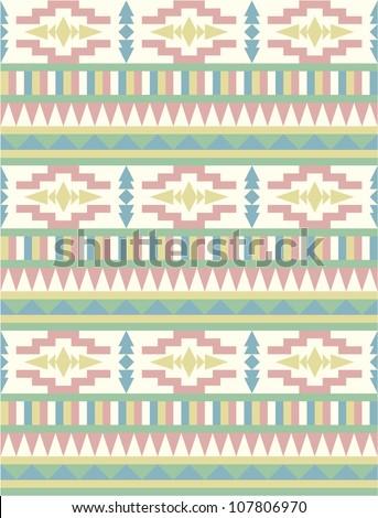 Seamless aztec style pattern #2