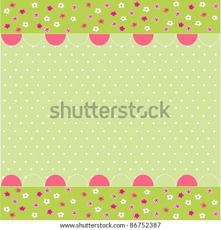 seamless baby pattern, baby card