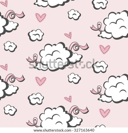 seamless baby pattern for girl