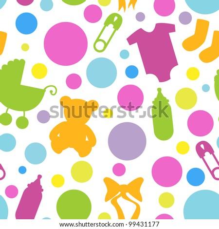 Seamless Baby Shower Pattern