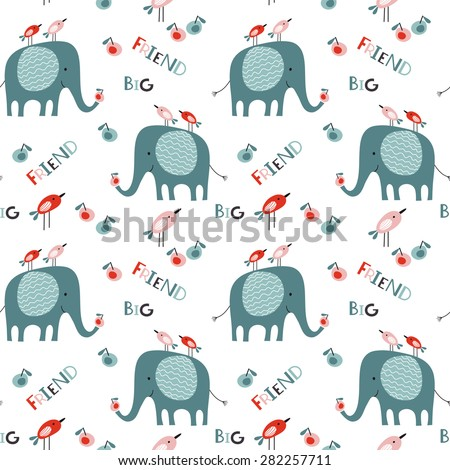seamless baby vector pattern
