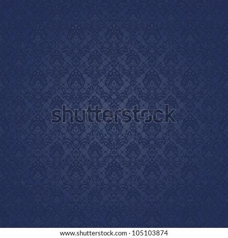Seamless background baroque blue