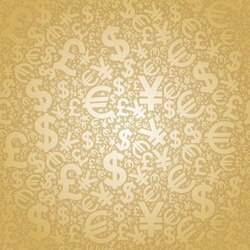 seamless background characters of world currencies