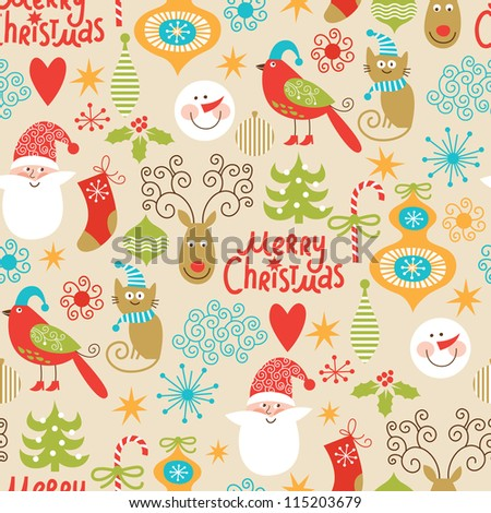 seamless background  christmas