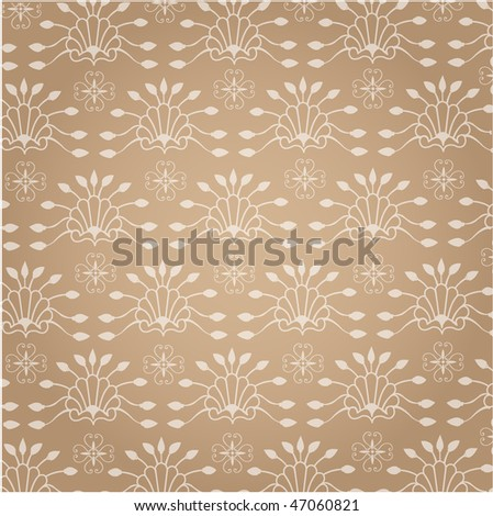 Seamless background, floral pattern - stock vector
