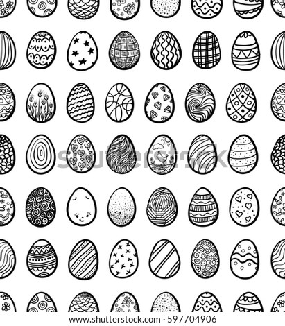 Seamless background for Happy Easter with eggs, vector illustration