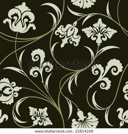 Modern Wallpaper on Modern Wallpaper Or Textile Stock Vector 22854268   Shutterstock