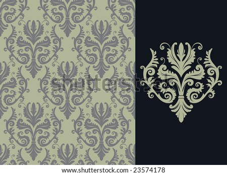 Modern Wallpaper on Modern Wallpaper Or Textile Stock Vector 23574178   Shutterstock