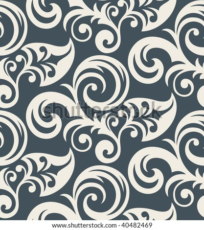 Modern Wallpaper on Floral Ornament Fashionable Modern Wallpaper Or Textile 40482469 Jpg