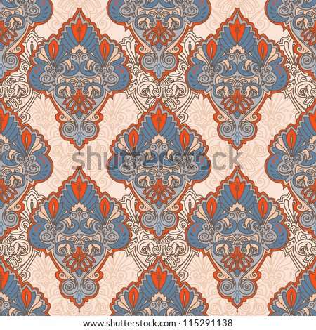 Seamless background from a orient/victorian ornament