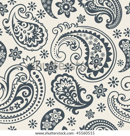 stock vector : Seamless background from a paisley ornament, Fashionable modern wallpaper or textile