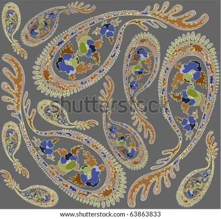 Brown And White Paisley Background Download Free Vector Art Stock
