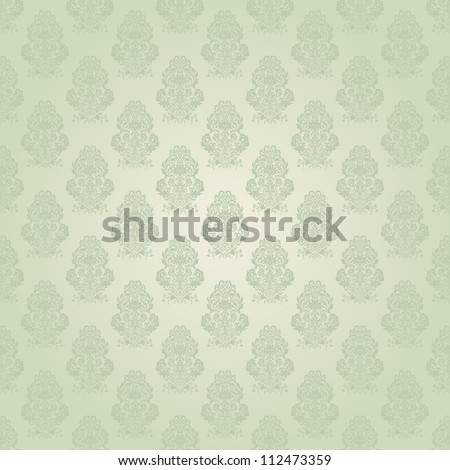 Seamless background green color - stock vector