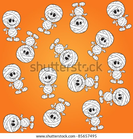 Seamless background - Halloween mummys
