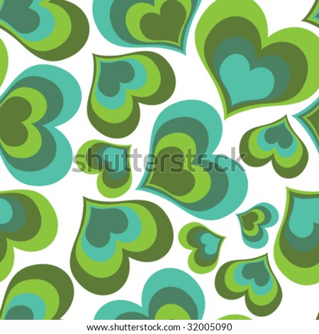 seamless background - hearts