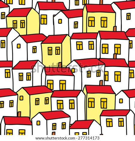 Seamless background houses