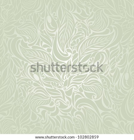 Seamless background in Baroque style green