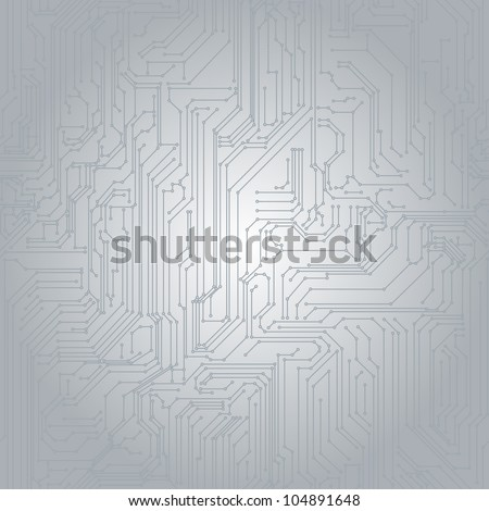 Seamless background in the form of printed circuit board