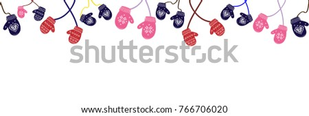 stock-vector-seamless-background-knitted-christmas-mittens-on-white-background-vector-illustration