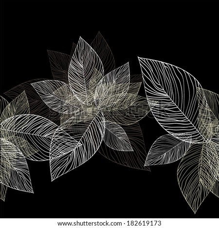 seamless background leaves of