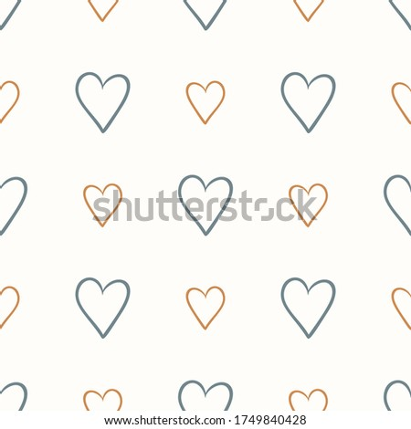 seamless background love heart