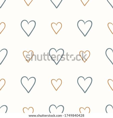 seamless background love heart