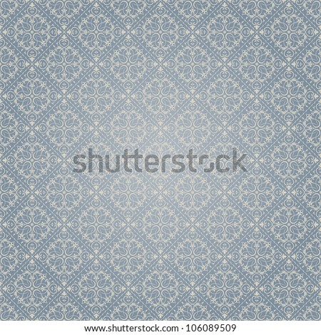 Seamless background of blue Baroque