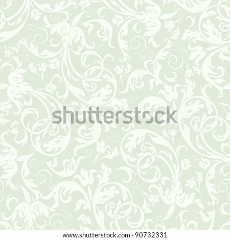 Seamless background of light green color in the style of Damascus
