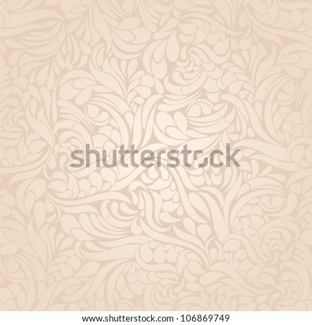 Seamless background of the baroque pink - stock vector