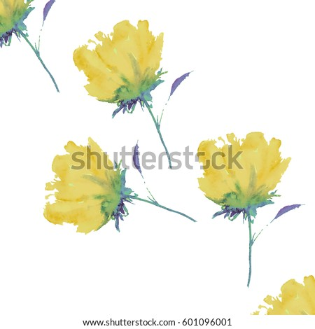 seamless background of yellow