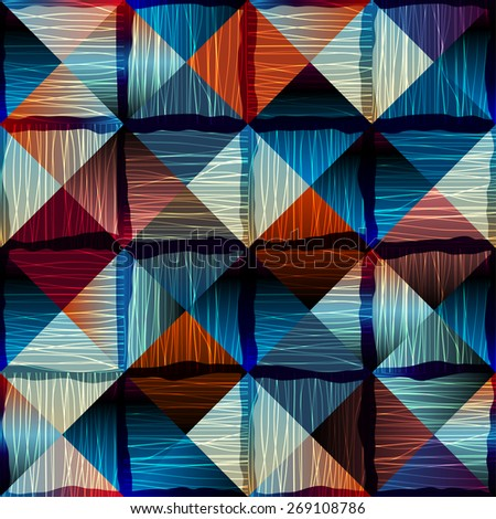 Seamless background pattern Abstract geometric pattern in patchwork style