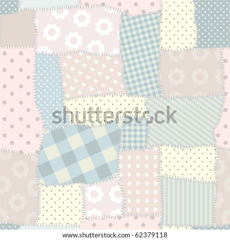 Seamless background pattern. Quilt patchwork.