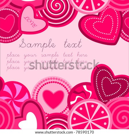 Seamless Background / Pattern with hearts - stock vector